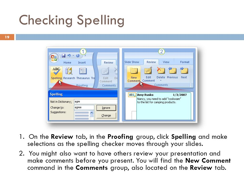 Checking Spelling
