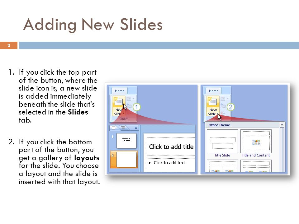 Adding New Slides