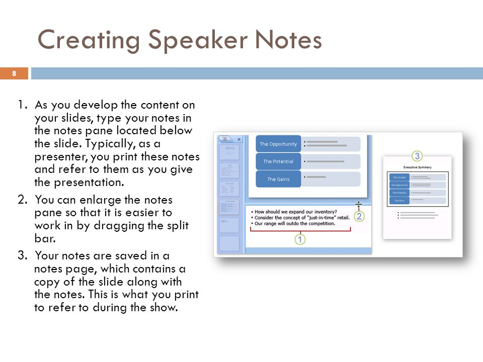 Creating Speaker Notes