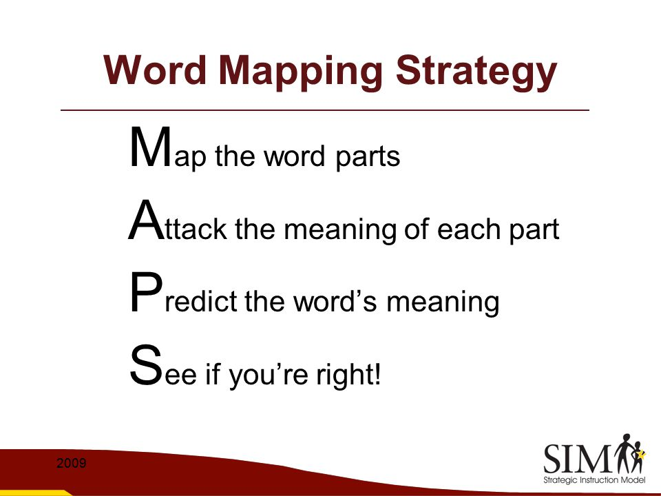 The Word Mapping Strategy - ppt video online download