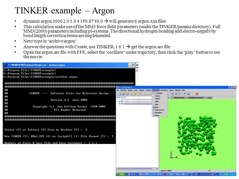Molecular modeling tool - TINKER - ppt download