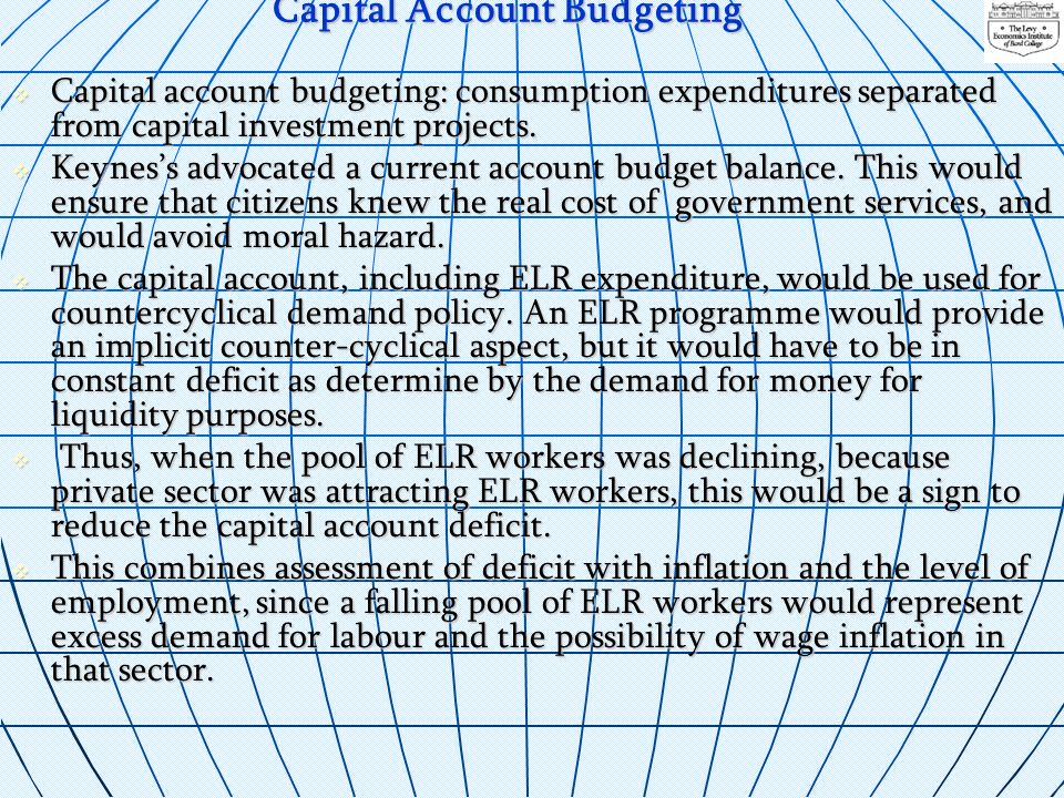 Capital Account Budgeting