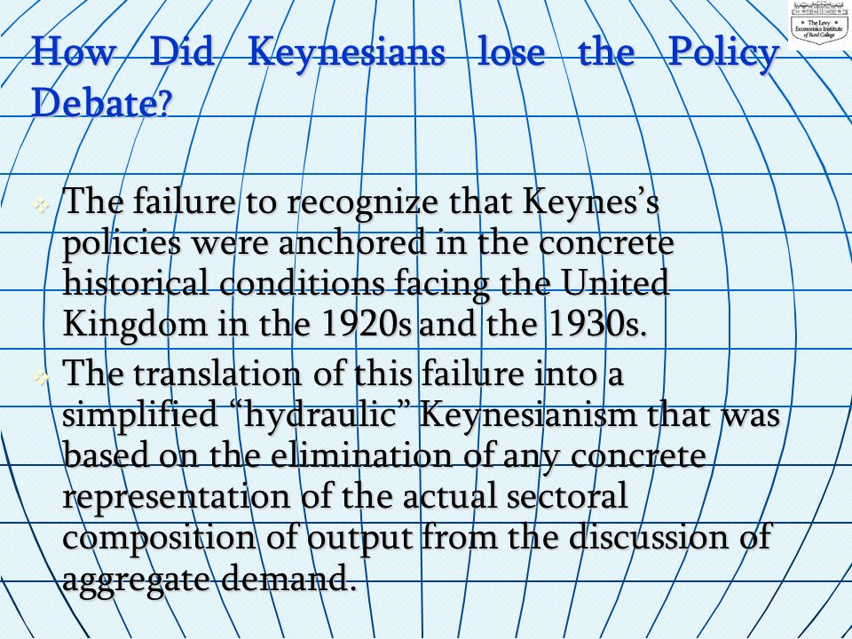 How Did Keynesians lose the Policy Debate