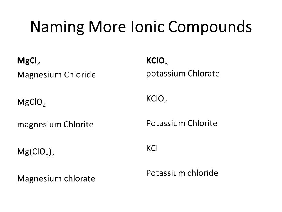 Naming Compounds Writing Formulas Ppt Video Online Download