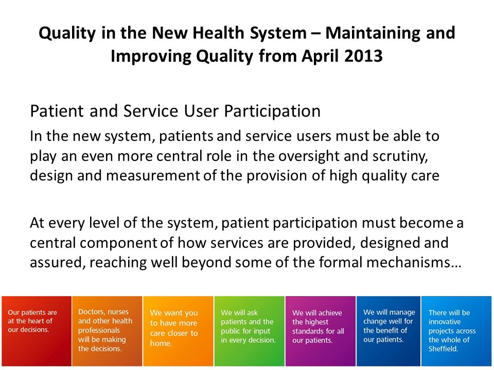 Patient and Service User Participation
