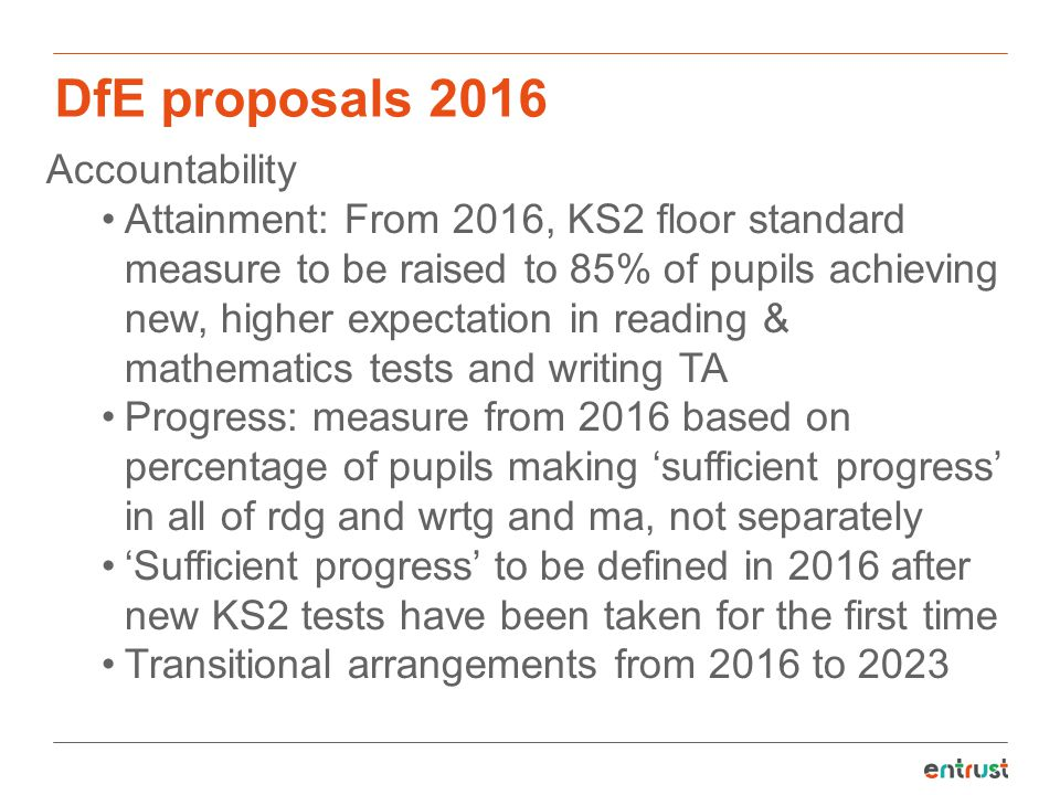DfE proposals 2016 Accountability