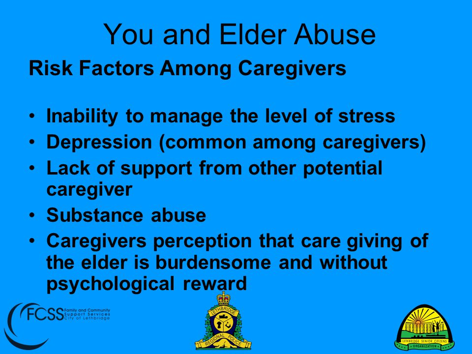 You and Elder Abuse Risk Factors Among Caregivers