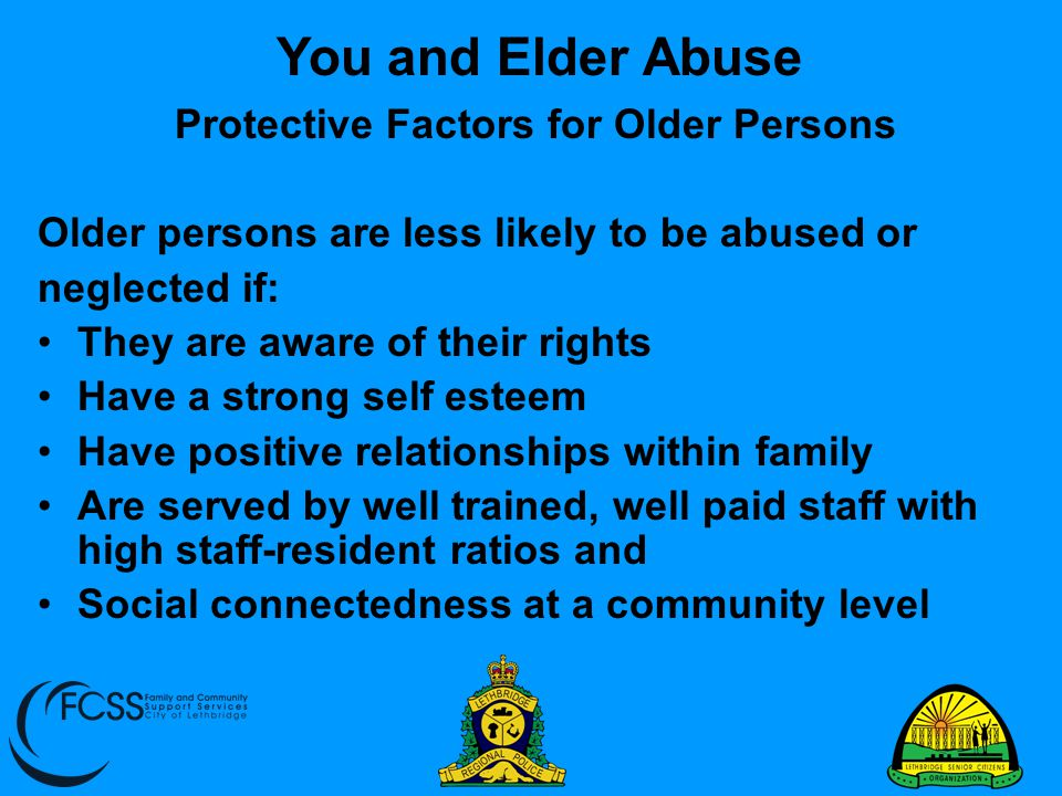 Protective Factors for Older Persons
