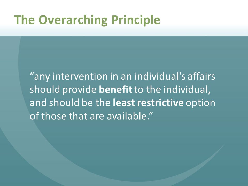 The Overarching Principle