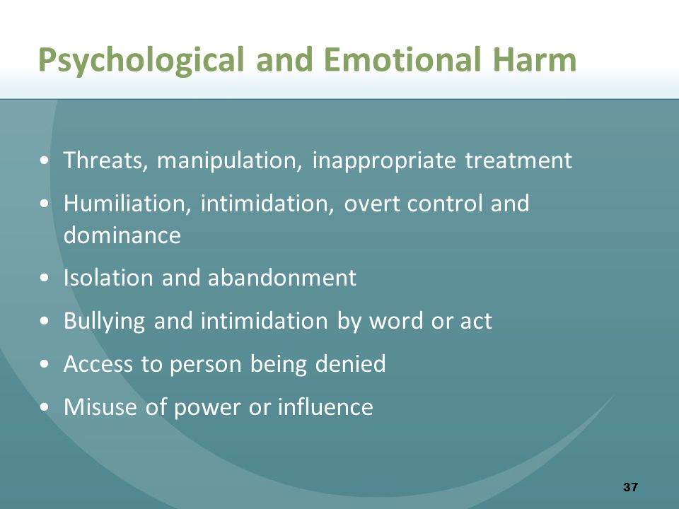 Psychological and Emotional Harm