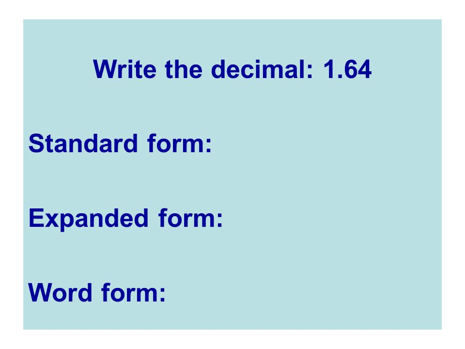 Write Decimals In Expanded Form Images Free Form Design Examples