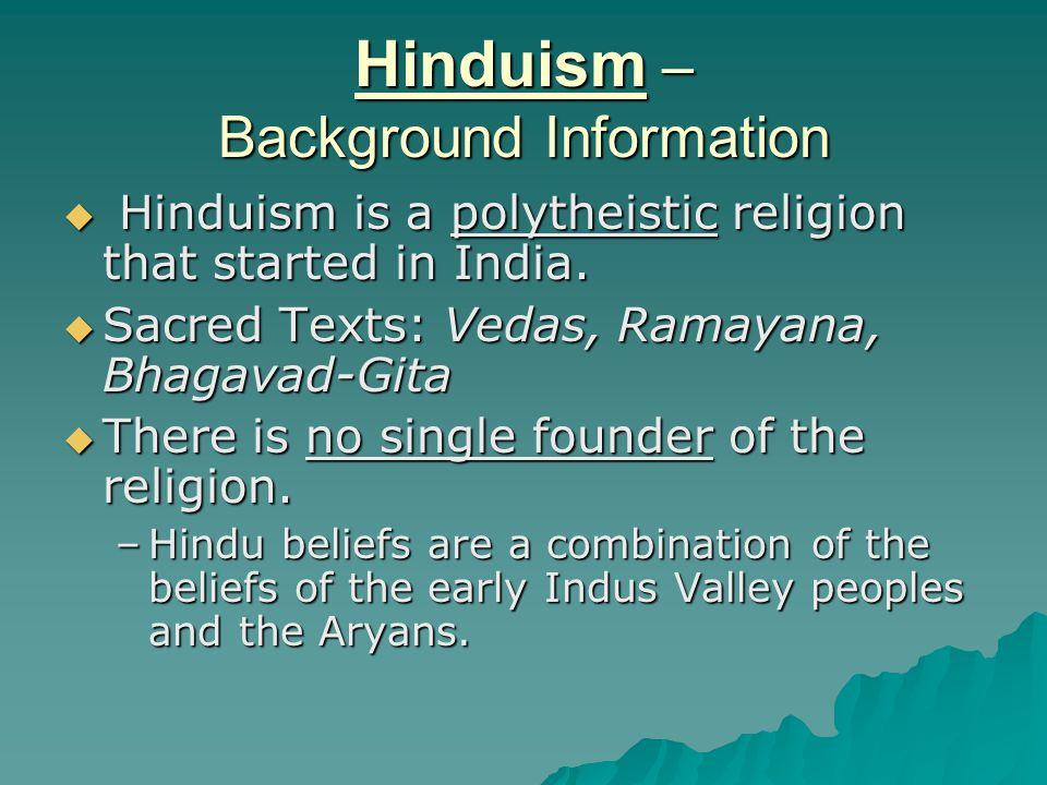 Hinduism – Background Information