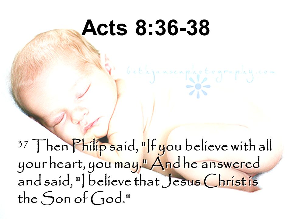 Acts 8:36-38