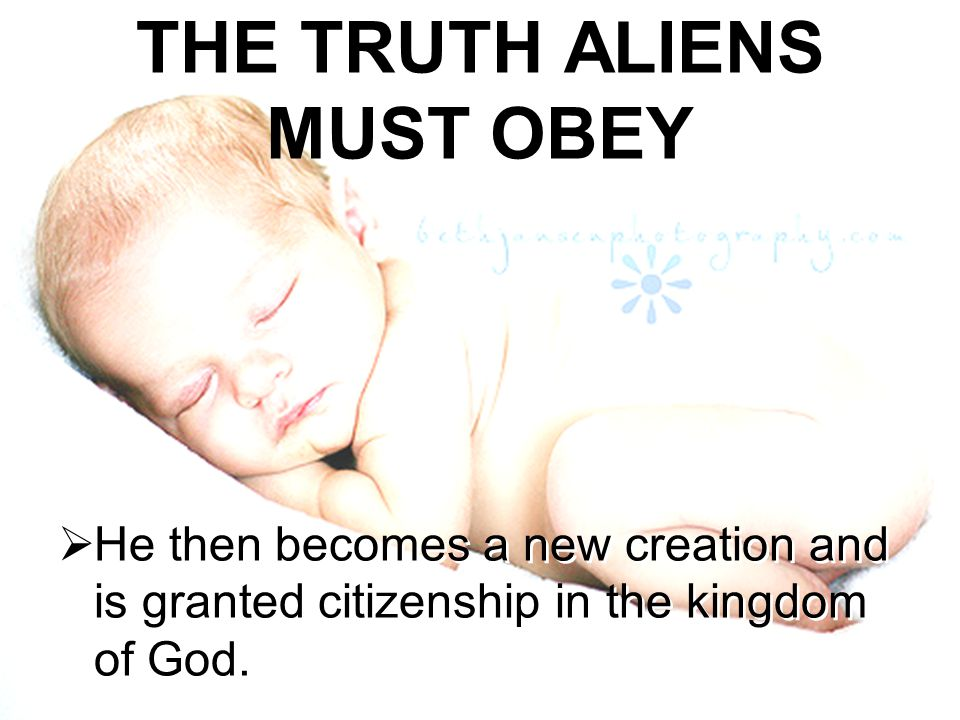 THE TRUTH ALIENS MUST OBEY