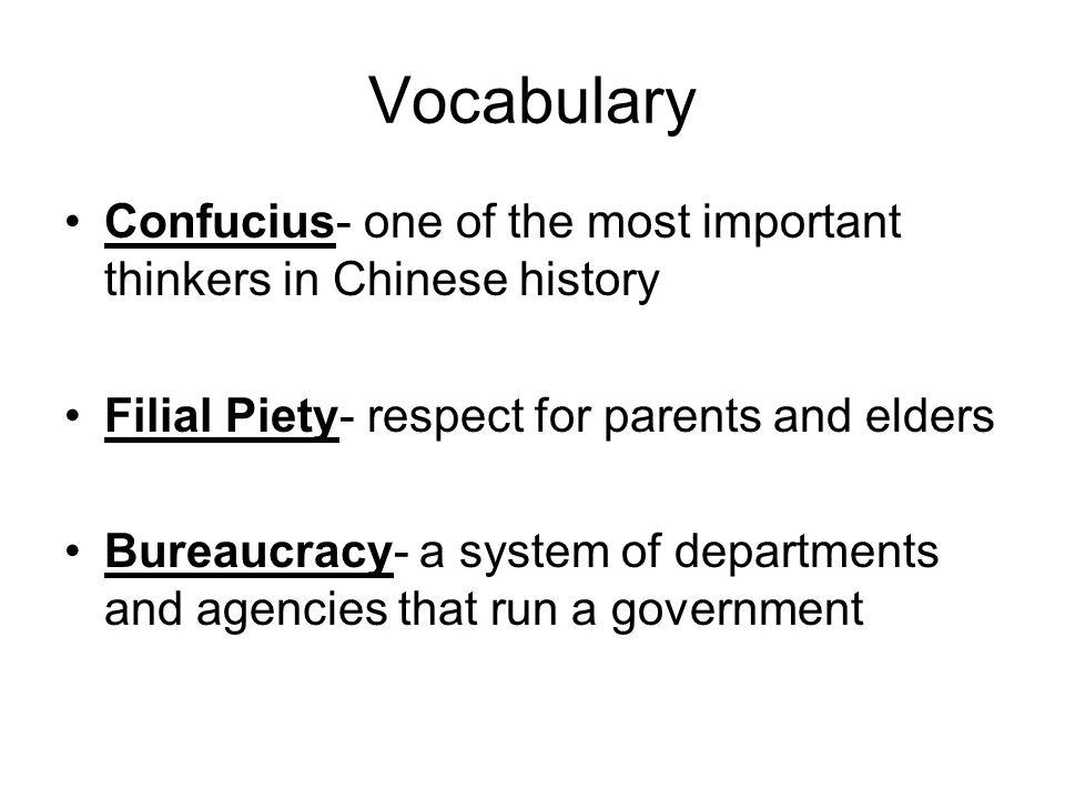 confucianism vocabulary