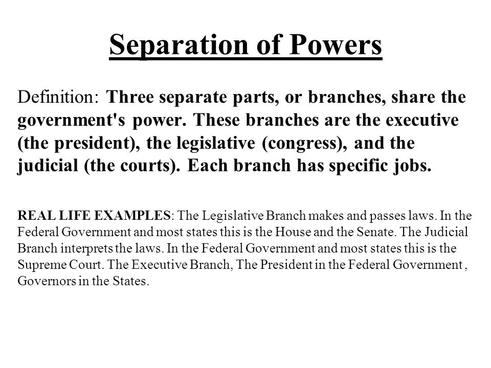 Separation Of Powers Examples Choice Image Example Cover Letter