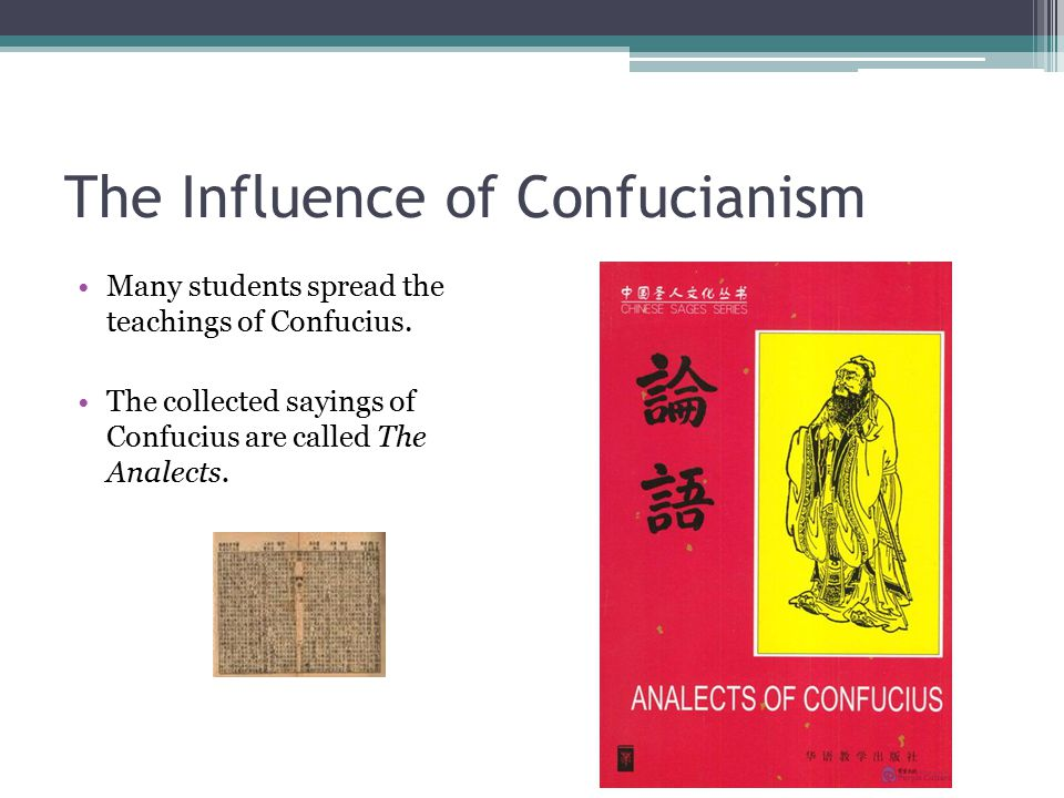 The Influence of Confucianism