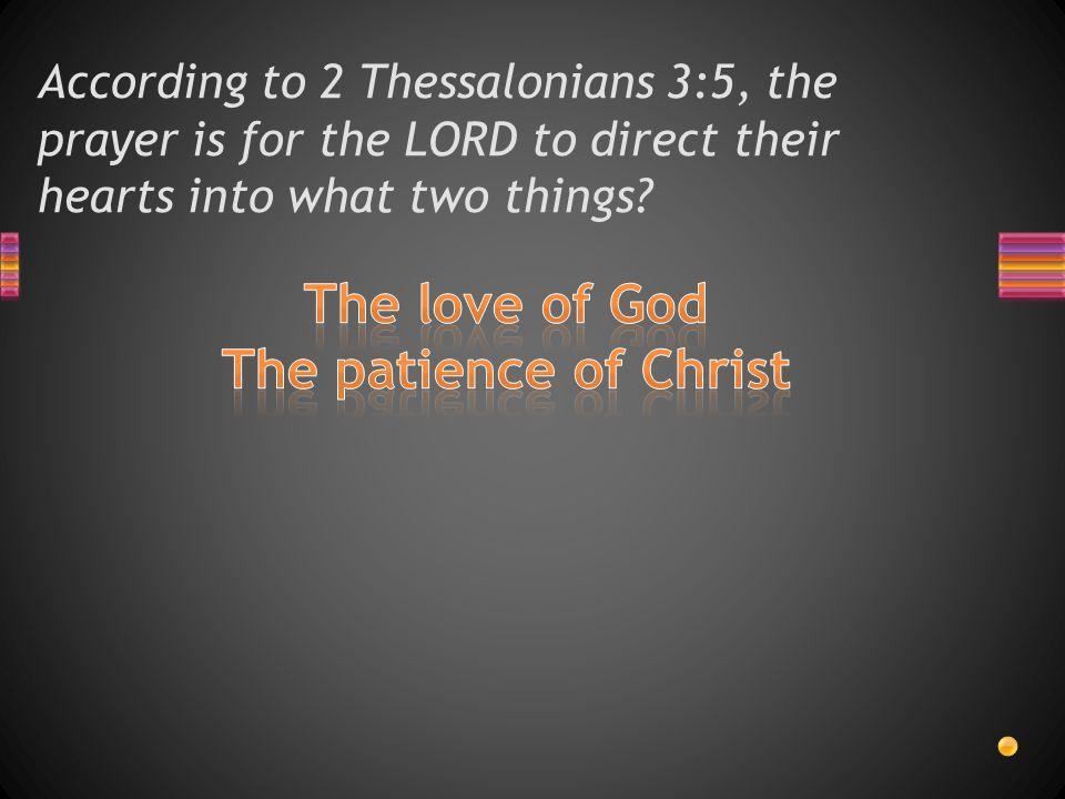 christian patience quiz