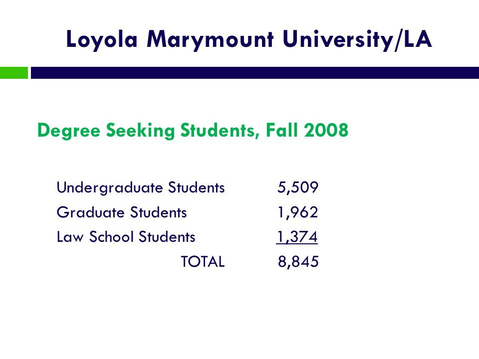 Loyola Marymount University/LA
