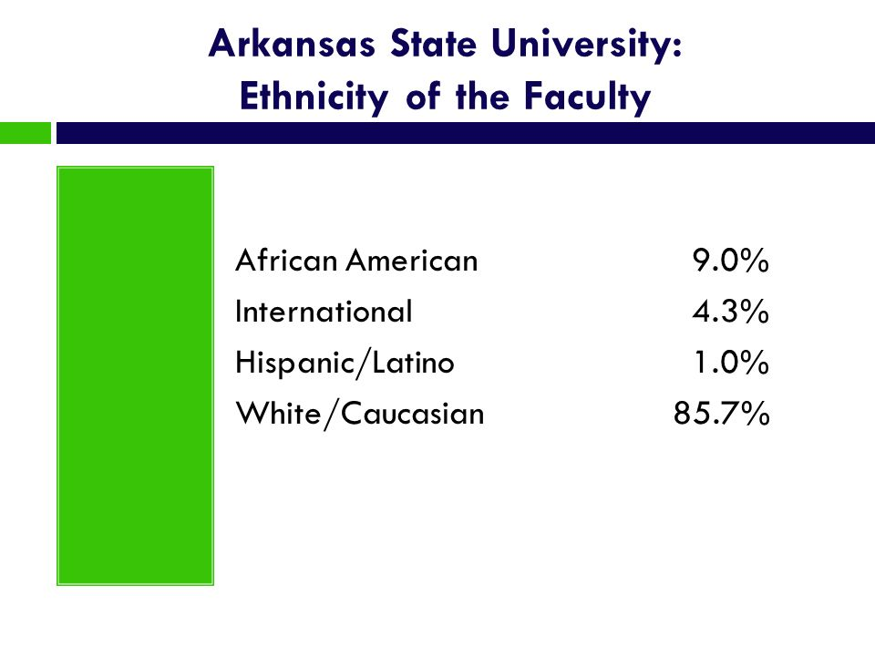 Arkansas State University: Ethnicity of the Faculty
