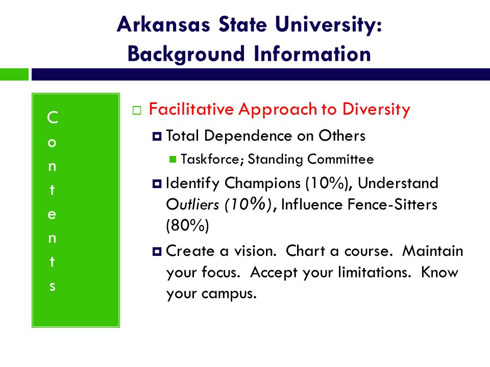 Arkansas State University: Background Information