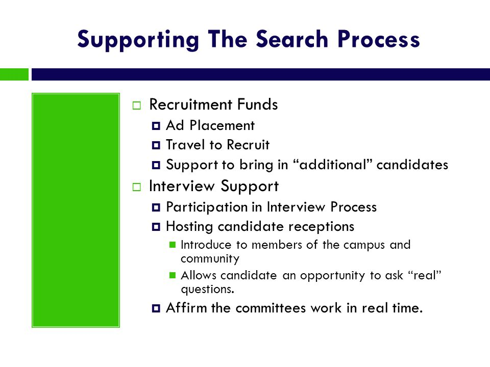 Supporting The Search Process