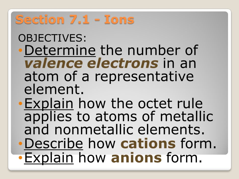 Describe how cations form. Explain how anions form.