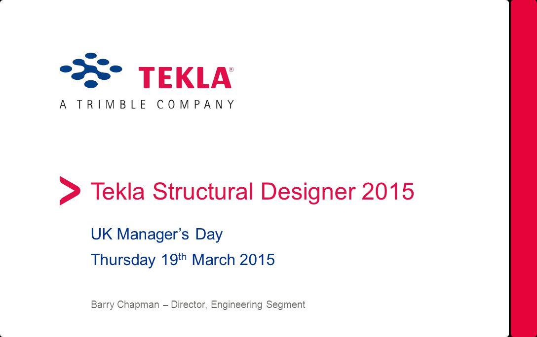 Tekla Structural Designer ppt download