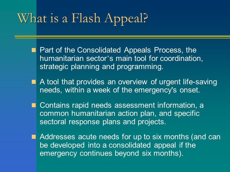 What is a Flash Appeal