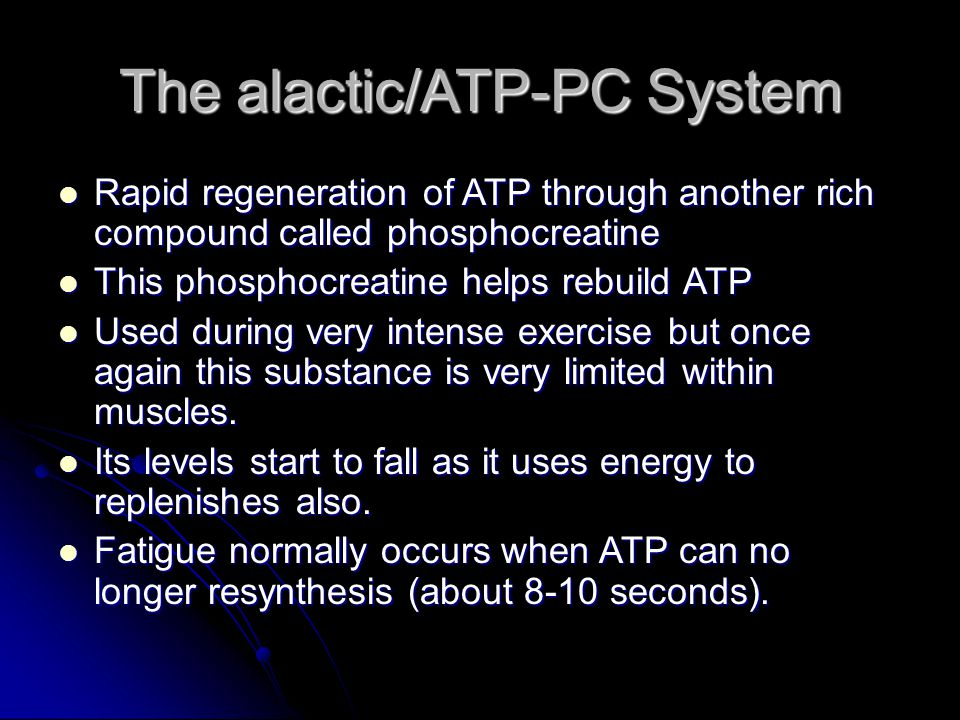 The alactic/ATP-PC System