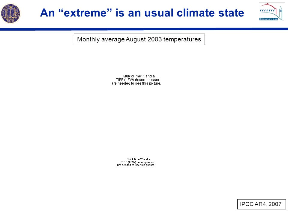 An extreme is an usual climate state