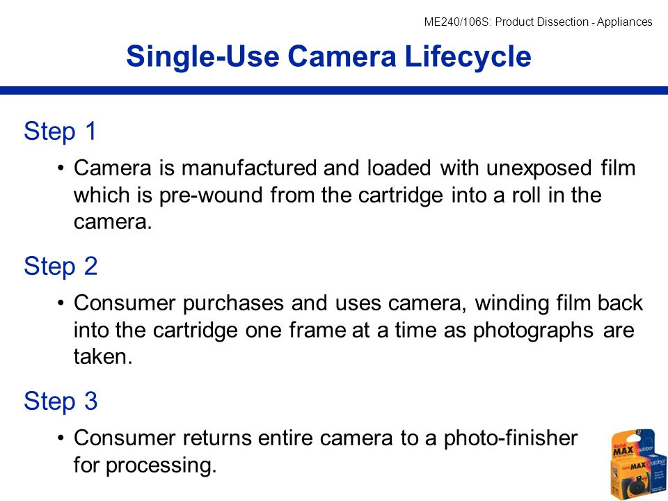 Single-Use Cameras References: - ppt video online download