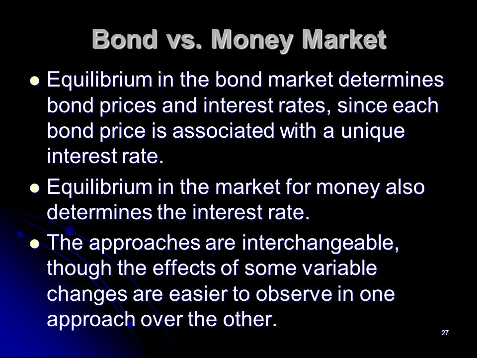 Bond vs. Money Market
