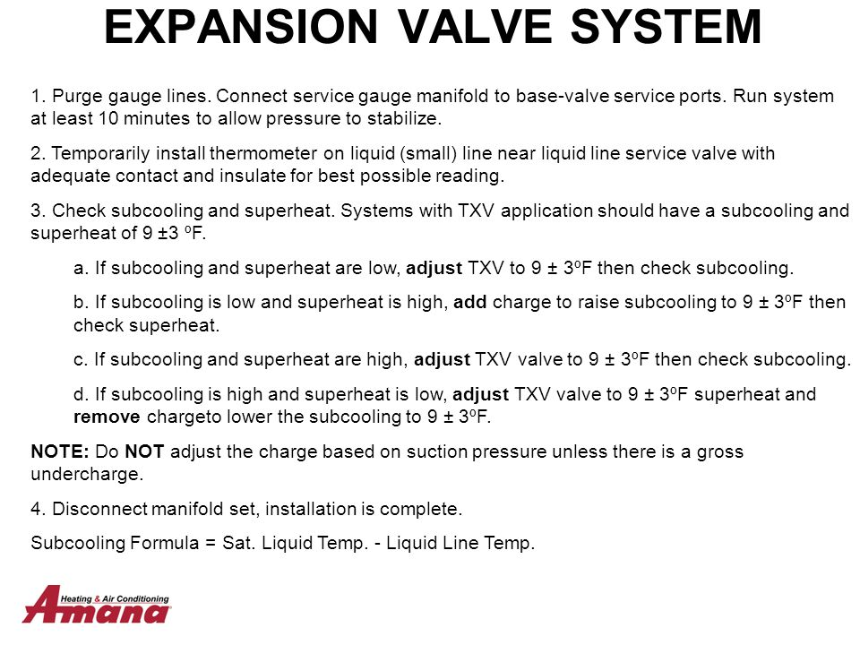 EXPANSION VALVE SYSTEM