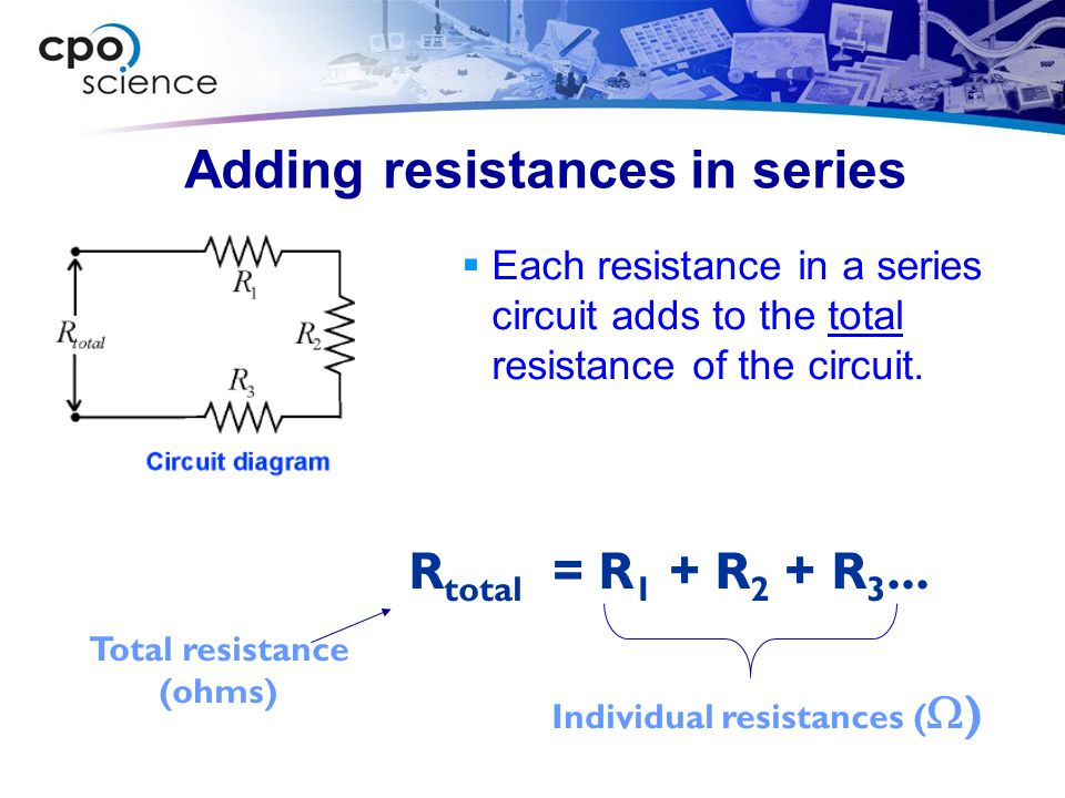 Adding resistances in series