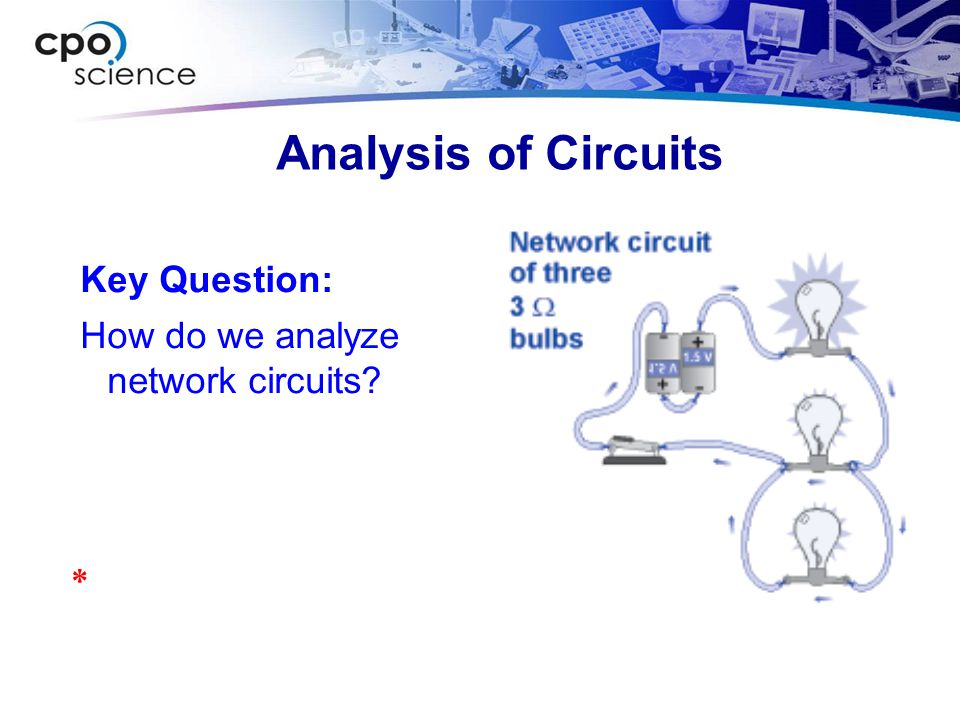 Analysis of Circuits Key Question: How do we analyze network circuits