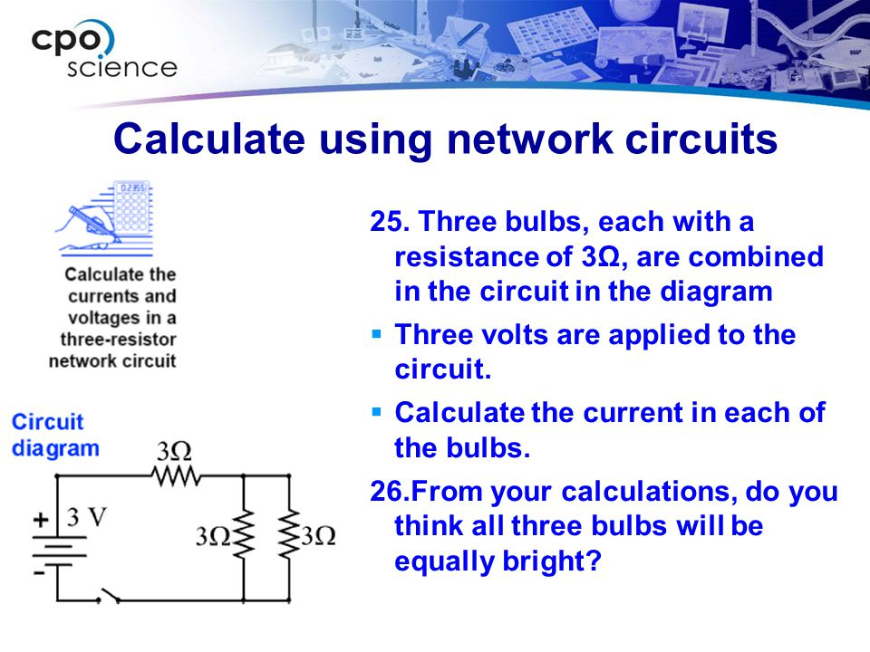 Calculate using network circuits