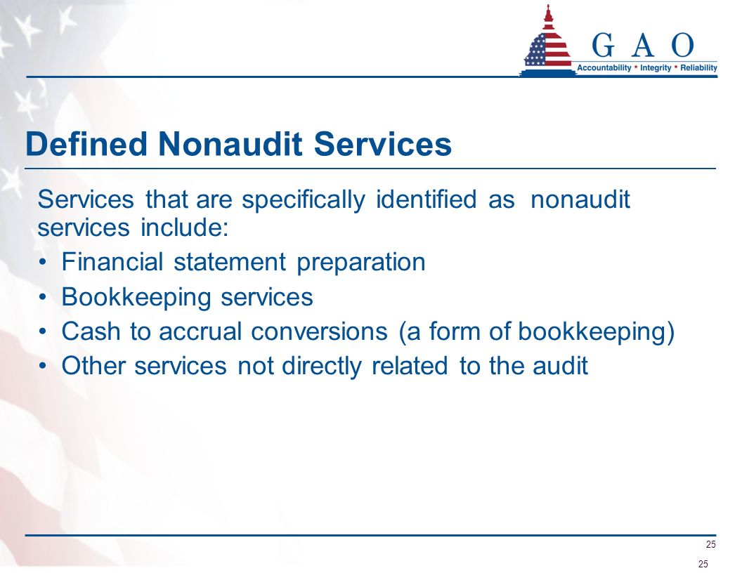 Defined Nonaudit Services