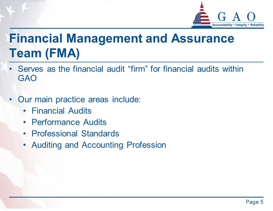 Financial Management and Assurance Team (FMA)