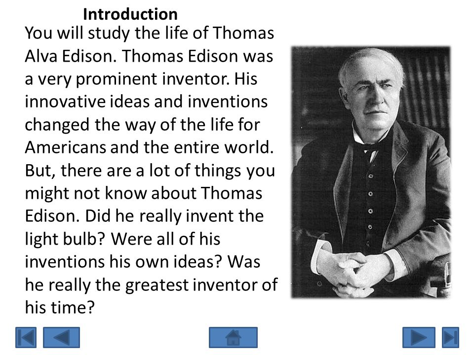 The Wizard Of Menlo Park  Ppt Video Online Download  Introduction You Will Study The Life Of Thomas Alva Edison Do My Assignement Paypal also Walt Disney Company Vision Statement  What Is A Thesis Statement For An Essay