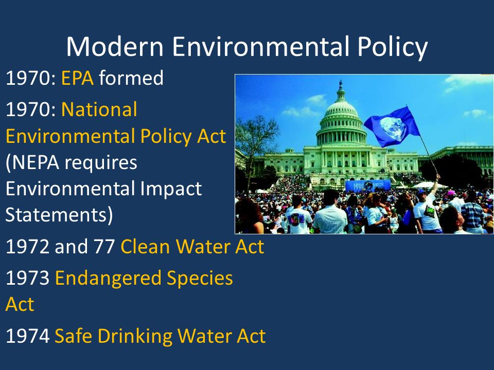 a glimpse at the government and environmental policy Environmental policy: environmental policy, any measure by a government or corporation or other public or private organization regarding the effects of human activities on the environment, particularly those the trade of permits will ensure that emissions reduction is achieved at the lowest costs.