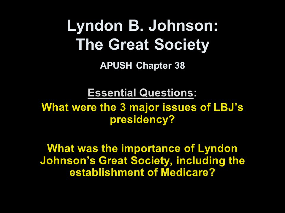 lbj essay In time of tragedy, president lyndon baines johnson provided greatly needed stability and continuity to united states he became the 36th president of united states following the assassination of president john f kennedy.