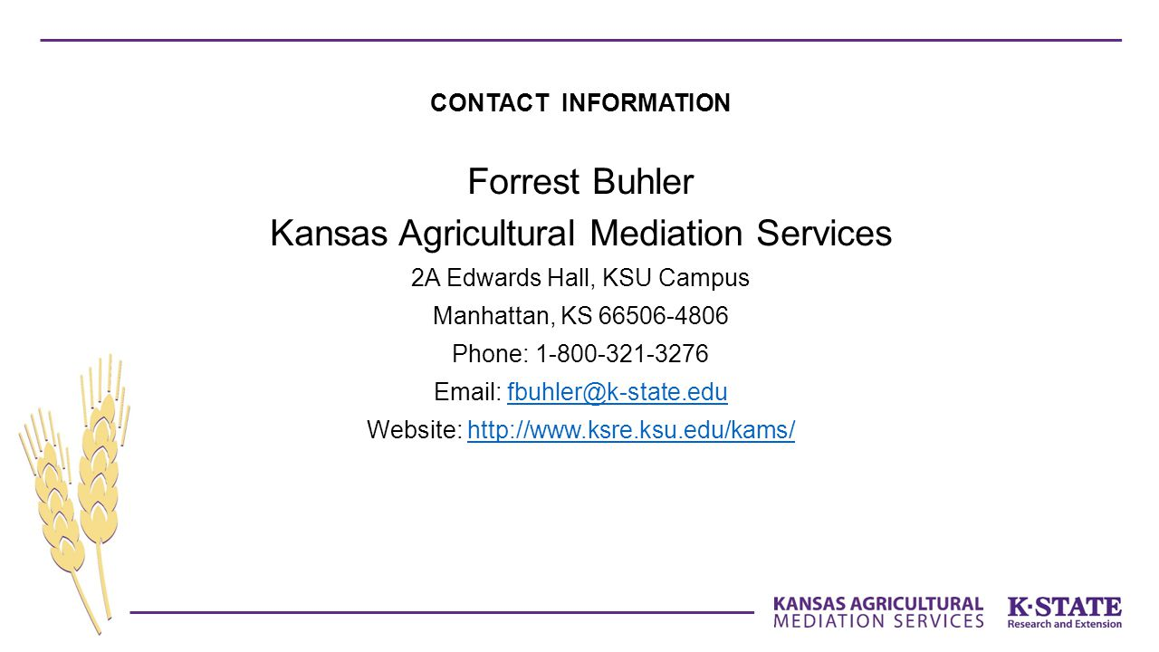Kansas Agricultural Mediation Services