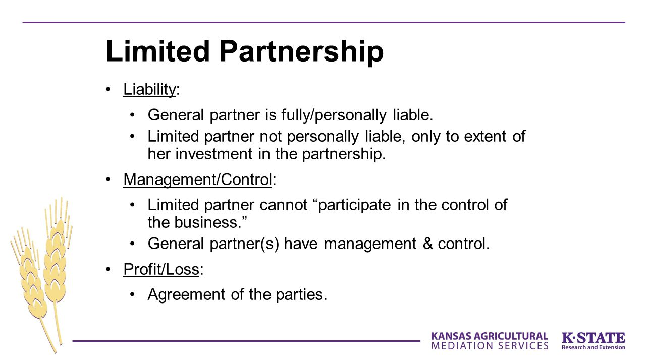 Limited Partnership Liability:
