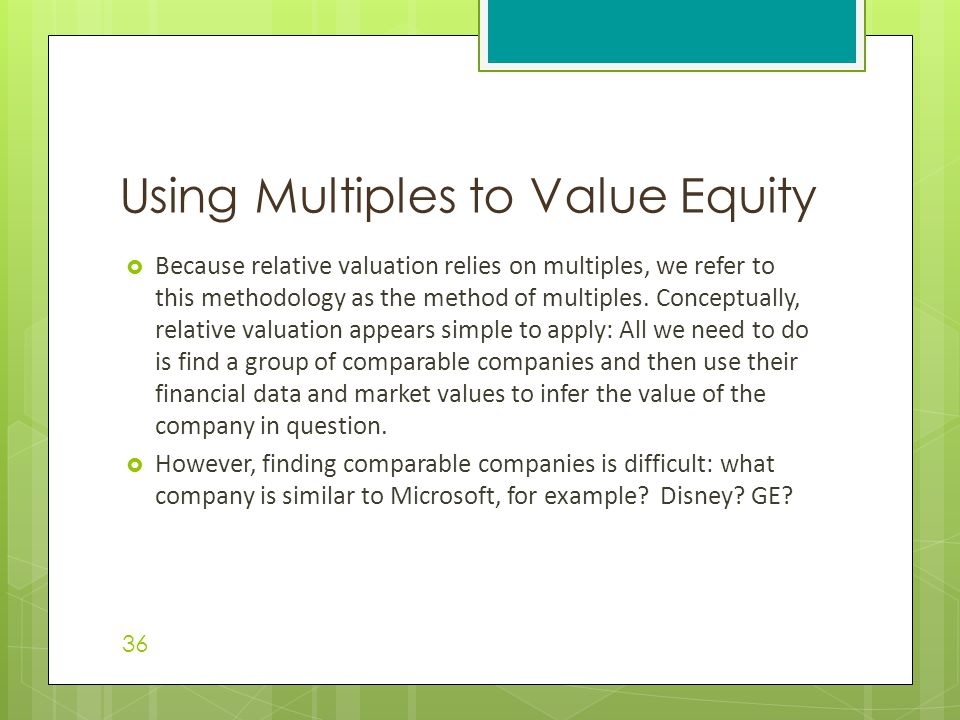 Chapter 7 Equity Valuation - ppt video online download