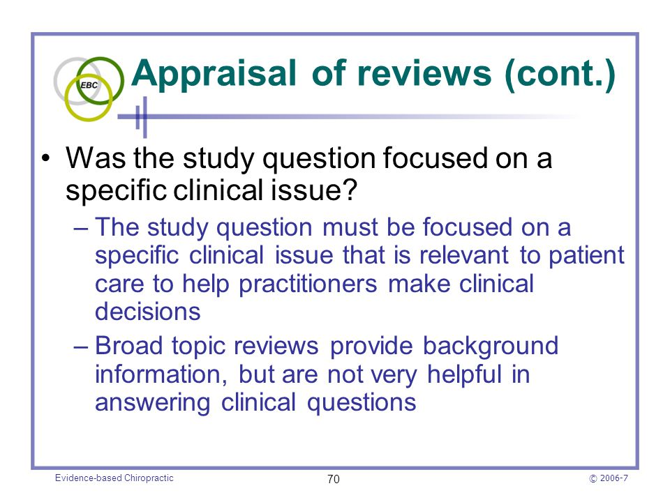how to make a clinical question to do literature search