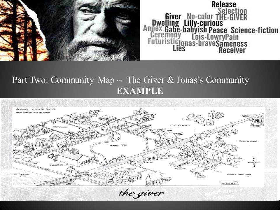 Map Of The Community In Giver on