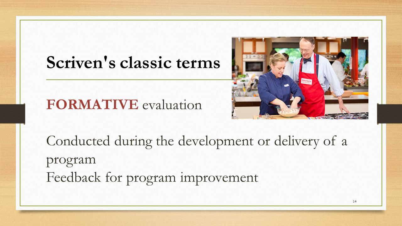 Scriven s classic terms