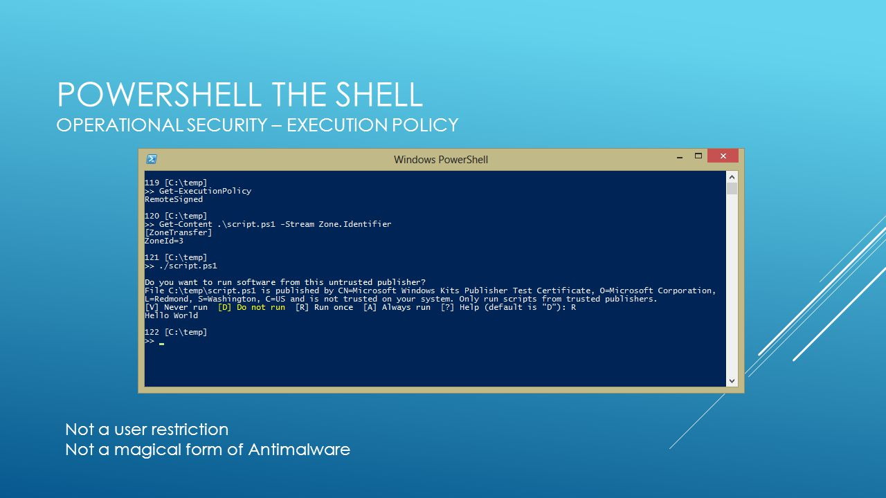PowerShell Security best practices - ppt video online download