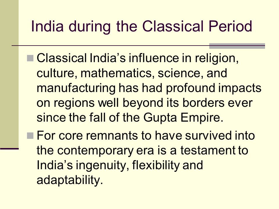 India during the Classical Period
